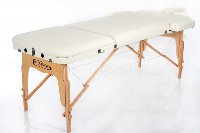 RESTPRO® VIP 3 Cream Massage Table + Massage Bolsters