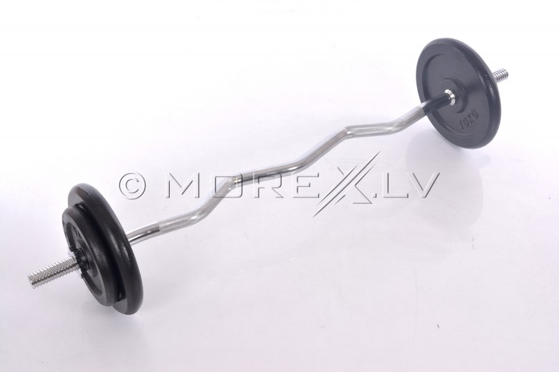 Curl Bar Metal Set 36 kg