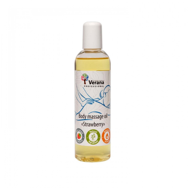 Body massage oil Verana Professional, Strawberry 250m