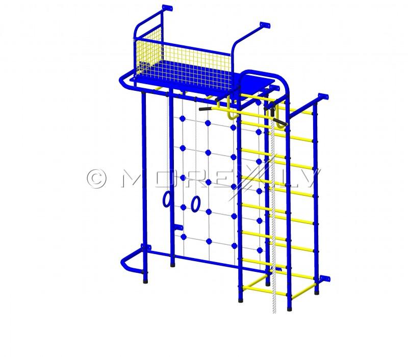 Mėlynai geltonas vaikiškas sporto kompleksas Pioner-C6C