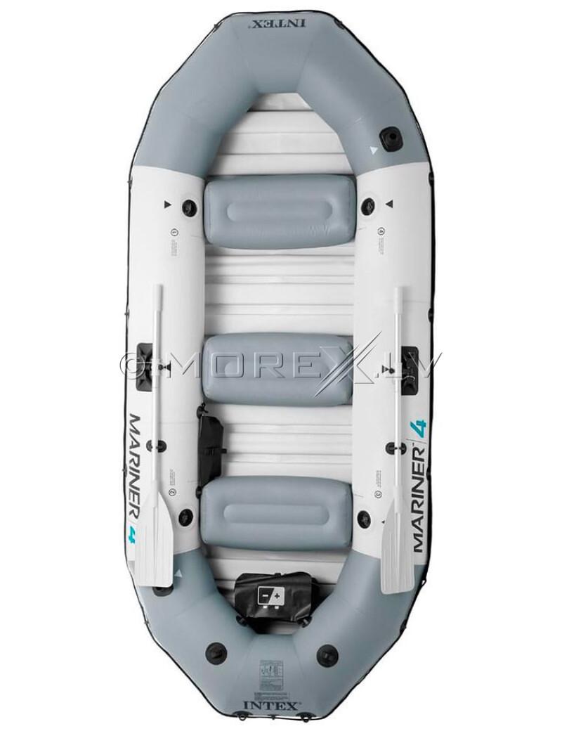 4-vietė pripučiama valtis kietu dugnu Intex 68376 MARINER 4 Boat Set, matmenys 328x145x48