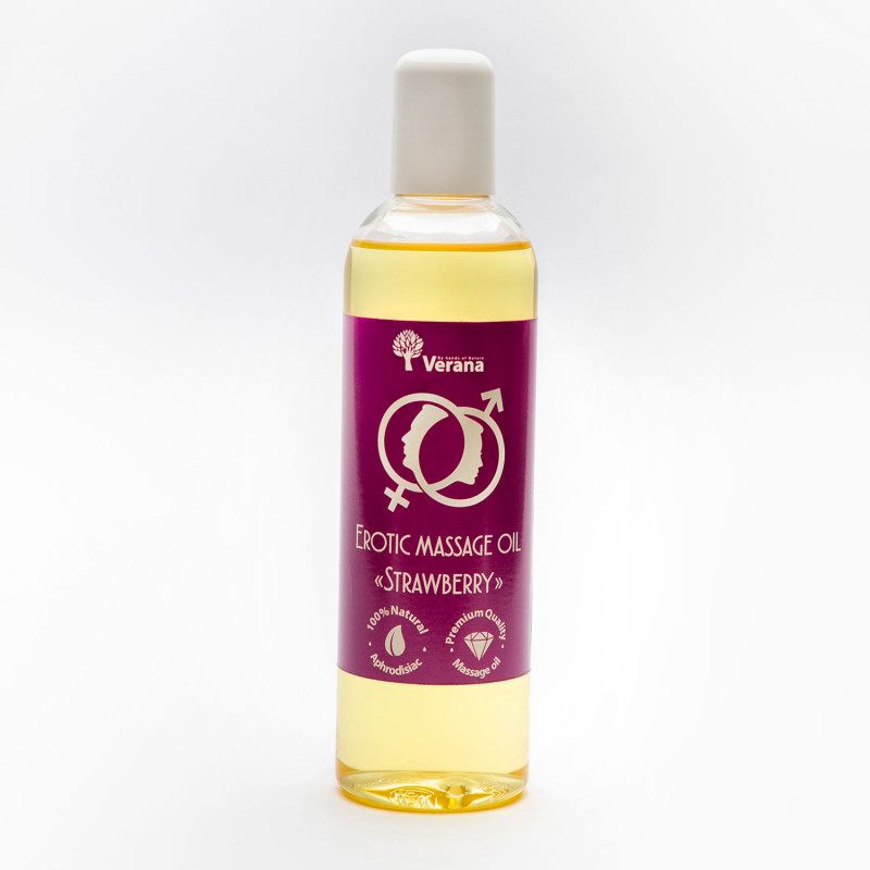 Erotic massage oil Verana Strawberry 250 ml