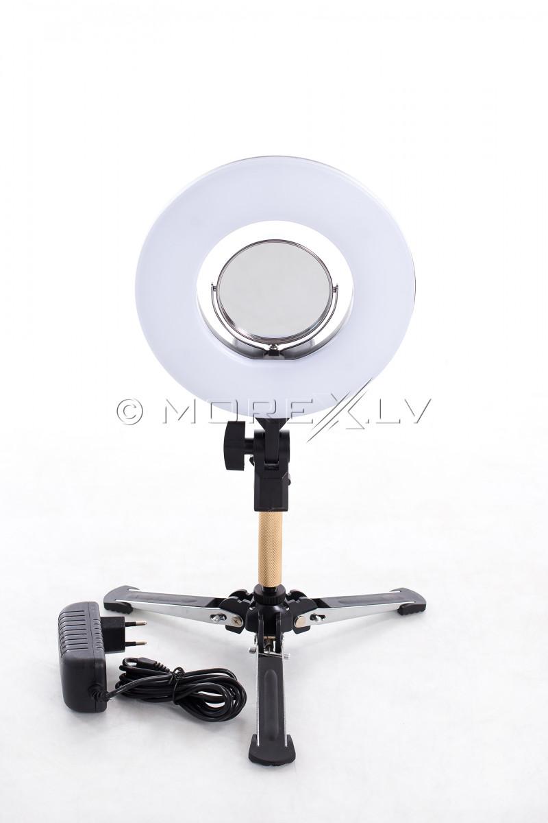 Žiedinė fotografavimo ir filmavimo LED lempa Ø20 cm, 24W (9601LED-8)