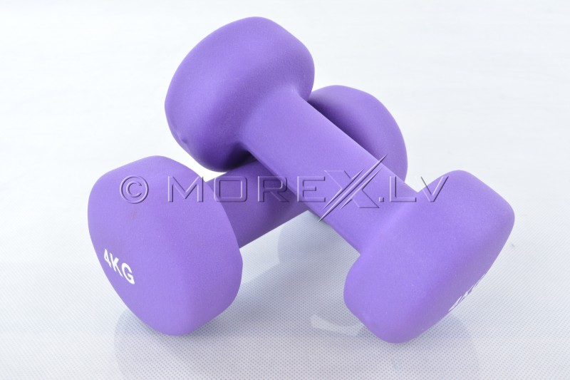 Two vinyl dumbbells 4 kg