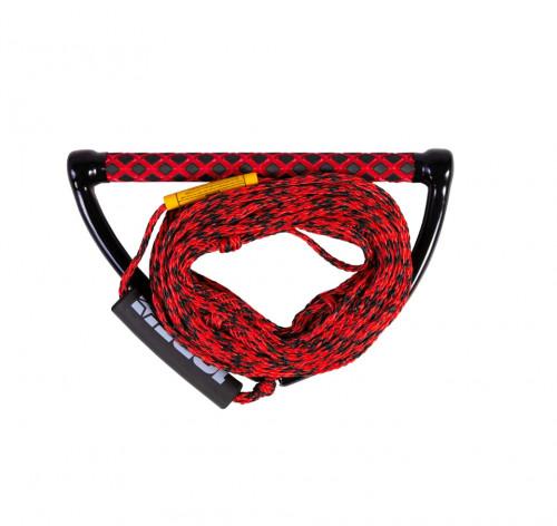 Veikbordo virvė su rankena Jobe Prime Wake Combo, raudona, 19.8 m