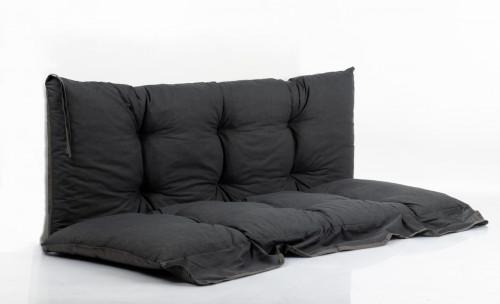 LUNA sodo sūpynių pagalvių komplektas, 130x45 cm, pilkos