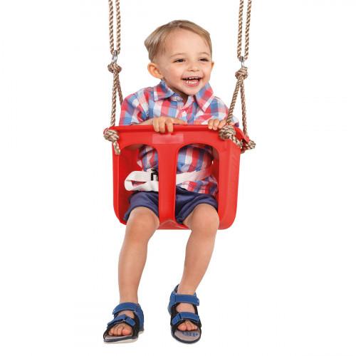 Vaikiškos supynės su apsauga, 12-24 mėn., КВТ, raudonos
