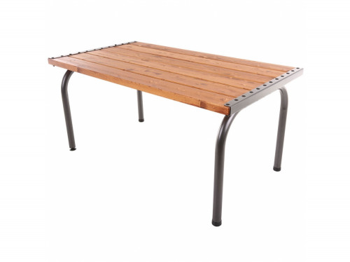 Garden table with wooden top, 151х86х73 cm