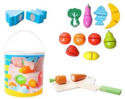 Medinės žaislinės daržovės ir vaisiai, 10765