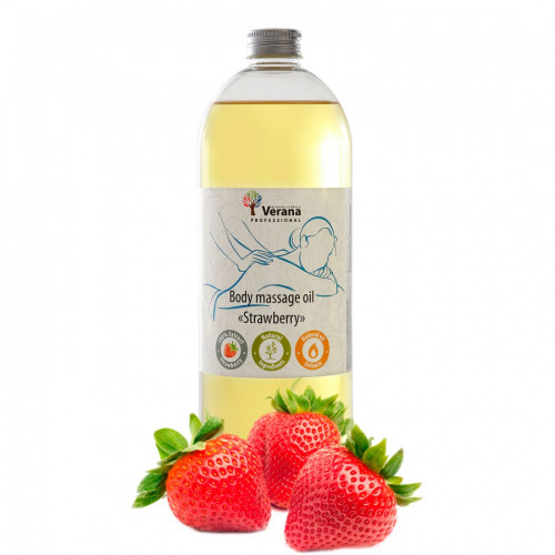 Body massage oil Verana Professional, Strawberry 1 liter
