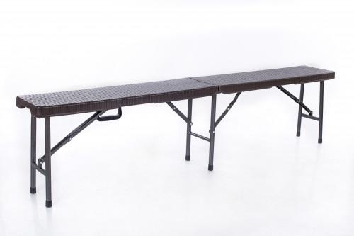 Sulankstomas rotango dizaino suolas 180x25cm