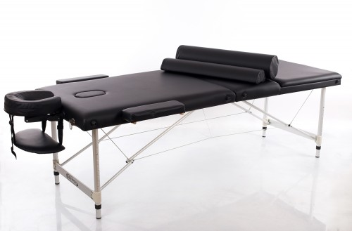 RESTPRO® ALU 3 Black Massage Table - Massage Bolsters