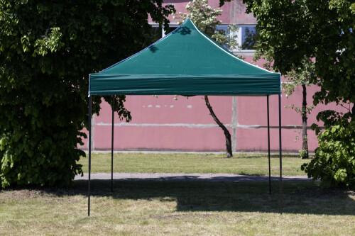 Pop Up sulankstomas tentas 3x3 m, be sienų, žalias, X serijos, aliuminis (palapinė, paviljonas, baldakimas)
