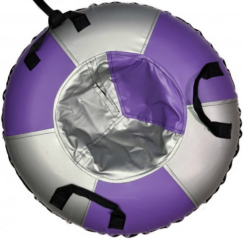 "Inflatable Sled Snow Tube ""Classic"" (00195-95-Purple-Silver)"