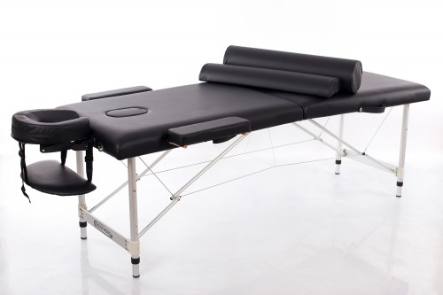 RESTPRO® ALU 2 M Black Massage Table - Massage Bolsters