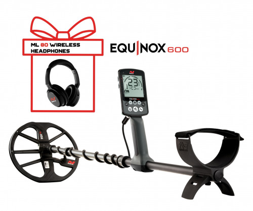 Metalo Detektoriai Minelab Equinox 600 + Minelab Equinox Wireless Headphones