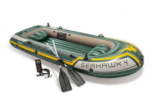 4-vietė pripučiama valtis Intex 68351 SEAHAWK-400 , matmenys - 351x145x48