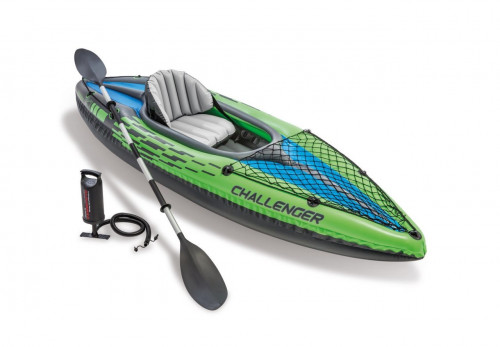 Inflatable single seat kayak Intex Challenger K1, 274x76 cm (68305)