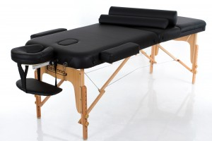 RESTPRO® VIP 3 BLACK Massage Table + Massage Bolsters