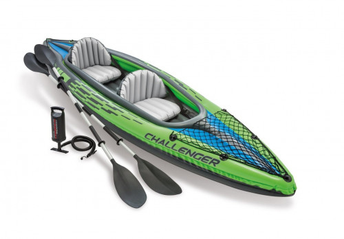 Two-seat inflatable kayak Intex Challenger K2, 351x76 cm (68306)