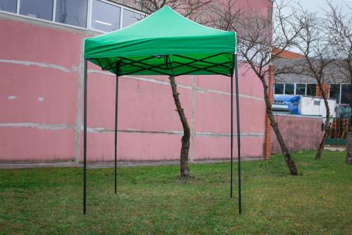 Pop Up sulankstoma palapinė 2x2 m, be sienų, žalia, H serijos, plieninė (palapinė, paviljonas, baldakimas)