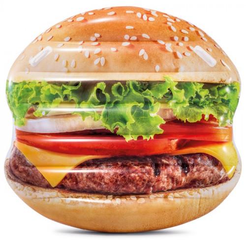 """Pripučiamas plaustas poilsiui ,,Hamburgeris"""", Intex 145х142 cm (58780)"""