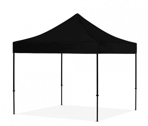 Pop Up sulankstoma palapinė 3x3 m, be sienų, juoda, X serija, aliuminis (palapinė, paviljonas, tentas)