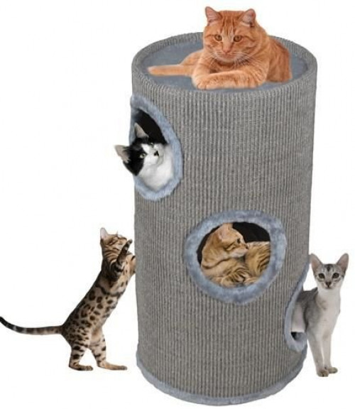 Cat house nail Scratcher CAT005P-2, 70 cm, grey