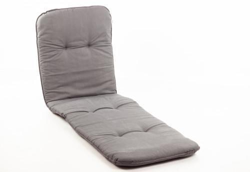 Подушка для садового кресла 192x60 см, серая