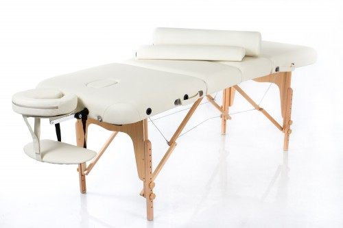 RESTPRO® VIP 4 CREAM Massage Table + Massage Bolsters