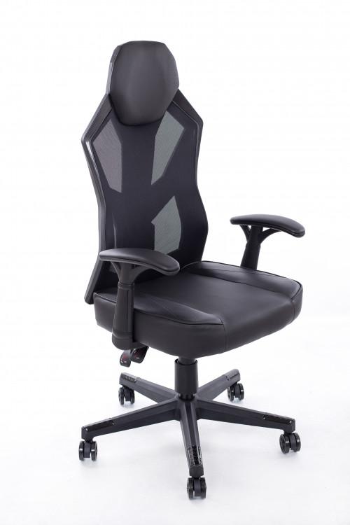 Žaidimo kėdė juodai pilka BM1002