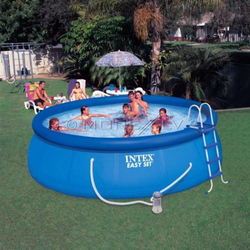 Baseinas Easy Set Pool 457x122 cm, su filtruojančiu siurbliu ir priedais (26168)