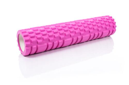 Massage Foam Roller Yoga Roller 14x62cm, pink