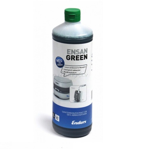 Sanitation liquid concentrate for camping toilets Ensan Green 1 litre