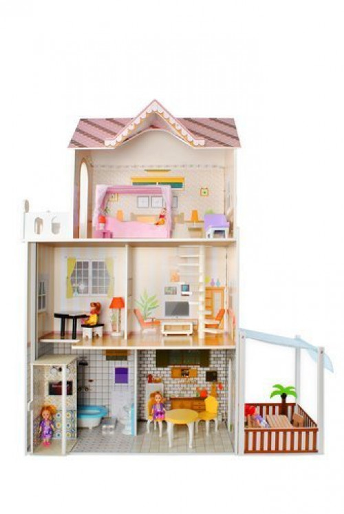 Big wooden dollhouse, 103х120 cm (9152)
