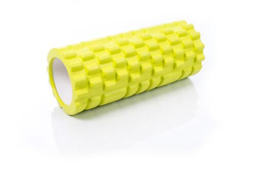 Massage Foam Roller Grid Roller 30x10cm, lime green