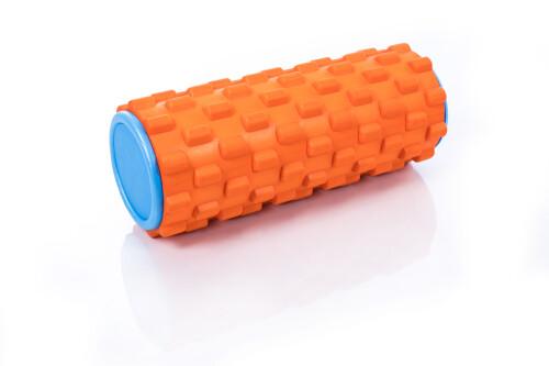 Masažo jogos ritinėlis Grid Roller 30x10cm, oranžinė