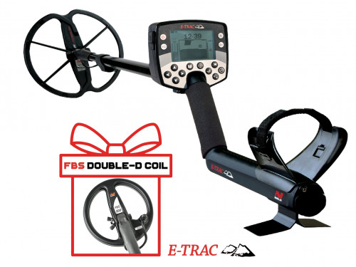 "Metalo Detektoriai Minelab E-Trac Universal + Minelab 8"" FBS coil"