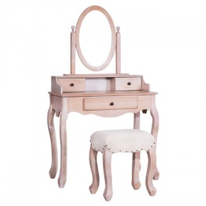 Dressing Table With Stool and Mirror beige