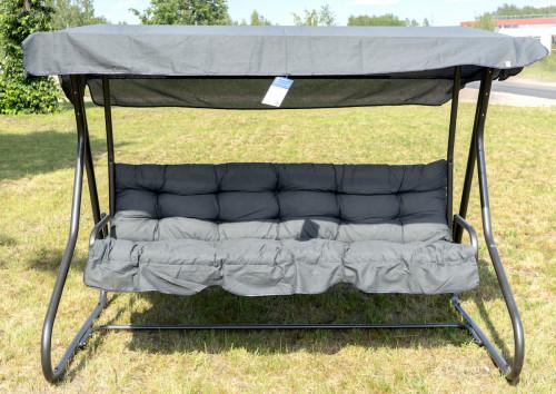 MILANO sūpynės-sofa, D002-06PB 220x134 cm, 3-vietės, pilkos
