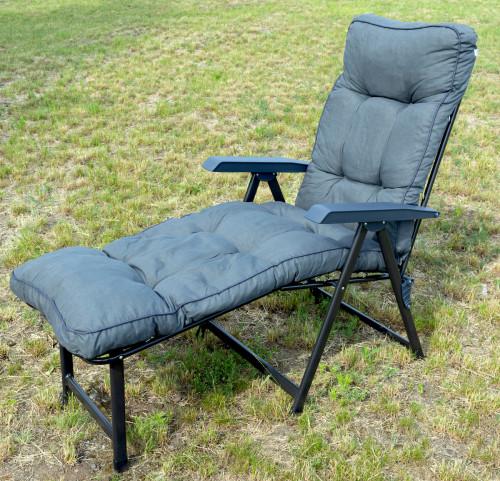 Lena Plus prailgintas krėslas, pilkas 60x150 cm
