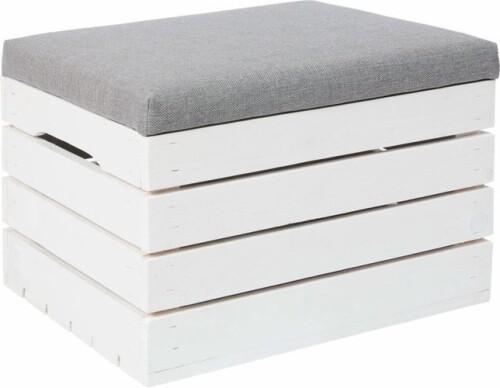 Деревянный  ящик для хранения вещей c подушкой для сидения, 50x40x35 см