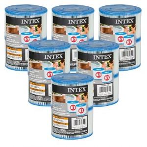 Intex 29001 Filter Cartrige Type S1 Twin Pack (Intex PureSpa), rinkinys 6 vnt.