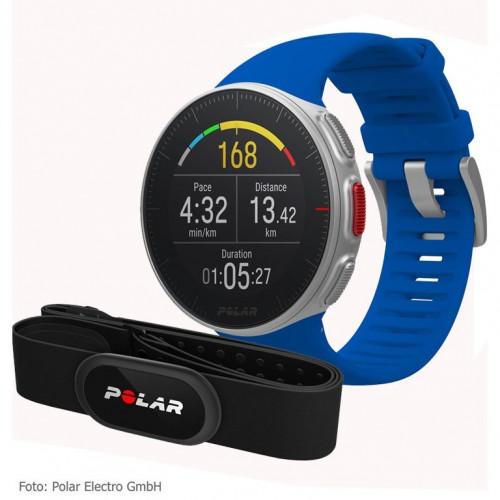 Sportinius laikrodžius POLAR VANTAGE V BLUE su antkrūtininiu pulsometru Polar H10