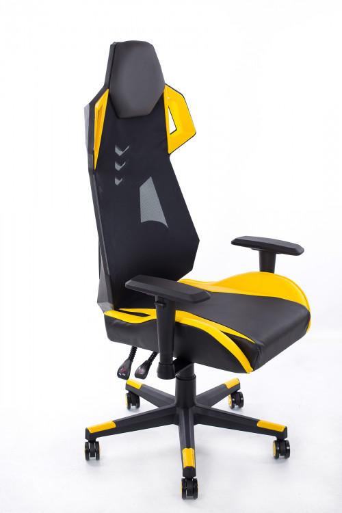 Geltonai juoda žaidimo kėdė BM1001