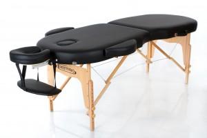 RESTPRO® VIP OVAL 2 BLACK sulankstomas masažo stalas
