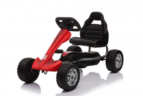 Velokartas (Velomobiliai) Go-Kart 1801 Red (3-6 years)