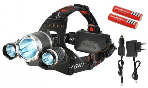 LED žibintas, 3 lempos, 4 režimai
