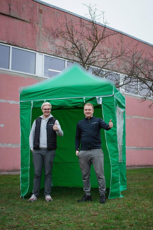 Siena baldakimui, 4vnt. komplektas, žalia spalva, audinio tankis 160 g / m2, 2x2 m