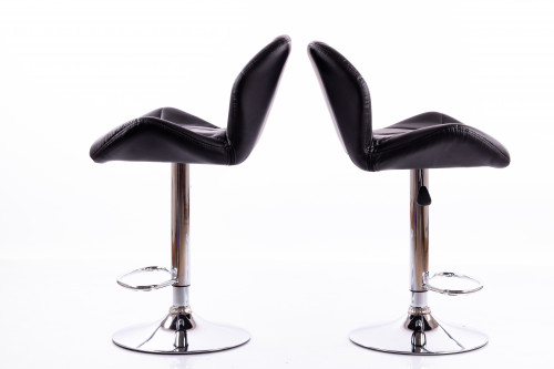 Bar chairs B01 black 2 pcs.